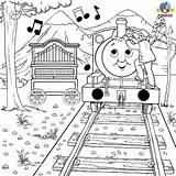 Thomas Coloring Train Pages Percy Friends Engine Tank Colouring Christmas Activities Trains Games Instrument Calliope Musical Reward Activity Toys sketch template
