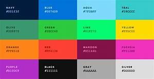 Colors, U2014, Default, Web, Palette, Replacement