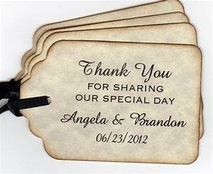 Wedding tags set of 100 thank you tags bridal shower favor for Personalized wedding favor tags