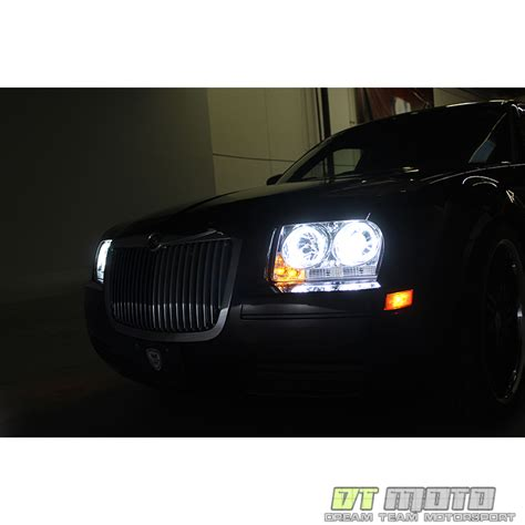 Halo Lights For Chrysler 300 by Smoked 05 07 Chrysler 300 Dual Halo Projector Led