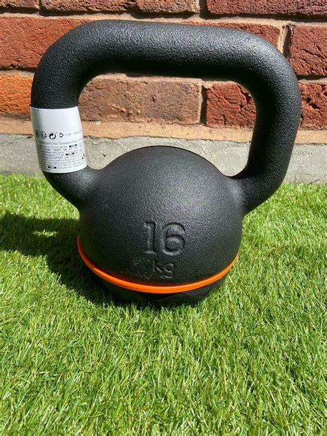 kettlebell kettle crossfit 16kg bell gym kg iron cast weight brand ended ad