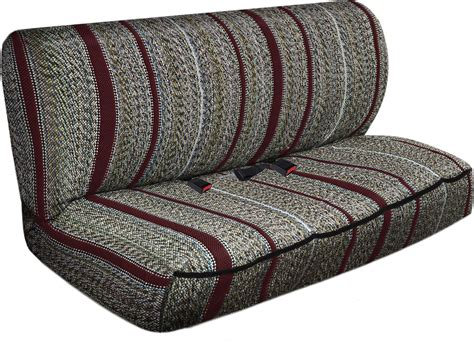 saddle blanket bench seat cover suv truck seat cover burgundy western woven saddle
