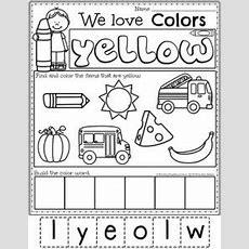 Color Worksheets  Planning Playtime