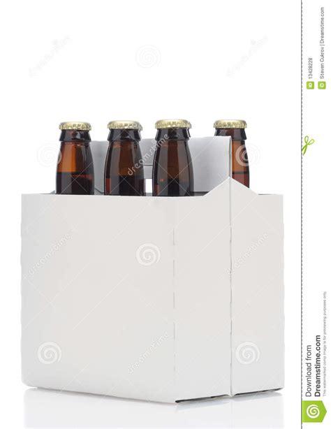 pack  brown beer bottles stock photo image
