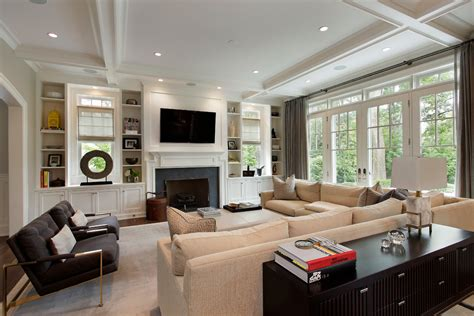 living room bookshelves and cabinets built ins around fireplace living room contemporary with