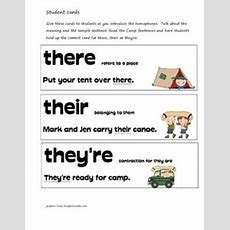 1000+ Images About There Their They're On Pinterest  To Too Two, Task Cards And Language Arts