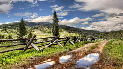 Country Fence Roads Wallpapers Road Screensavers Nature