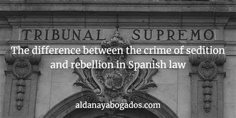 The difference between the crime of sedition and rebellion