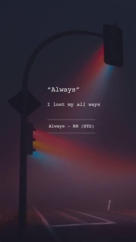 bts lyrics on always