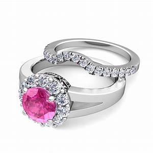 build halo engagement wedding ring bridal set gemstone With build wedding ring