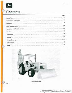 John Deere 510 Tractor Loader Backhoe 360566 Up Operators
