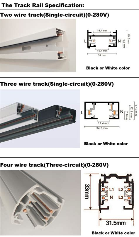 Led Track Rail Wire Lighting Fixture