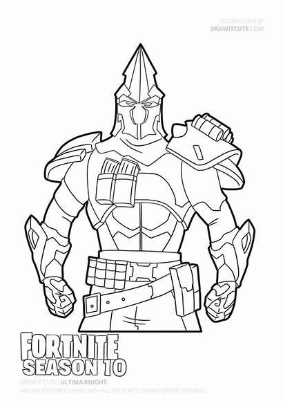 Coloring Fortnite Knight Season Draw Ultima Drawing