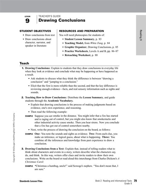 drawing conclusions worksheet worksheets for all