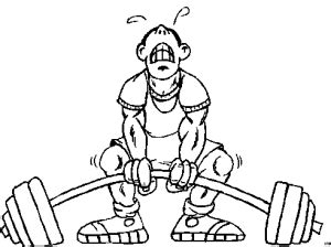 angestrengtes gewichtheber ausmalbild malvorlage comics