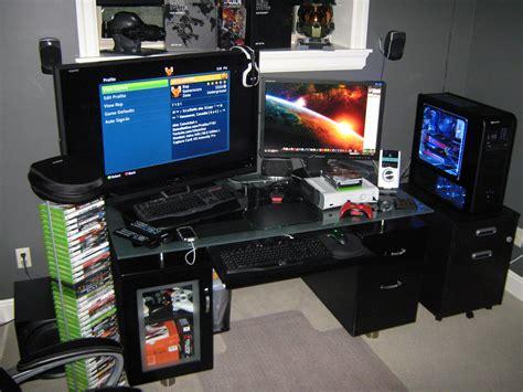gaming desk setup ideas gaming setups gaming setup gaming set ups pinterest