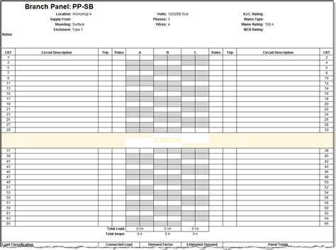 electrical panel schedule template excel panel schedule template achievable screenshoot split revit electrical configuration
