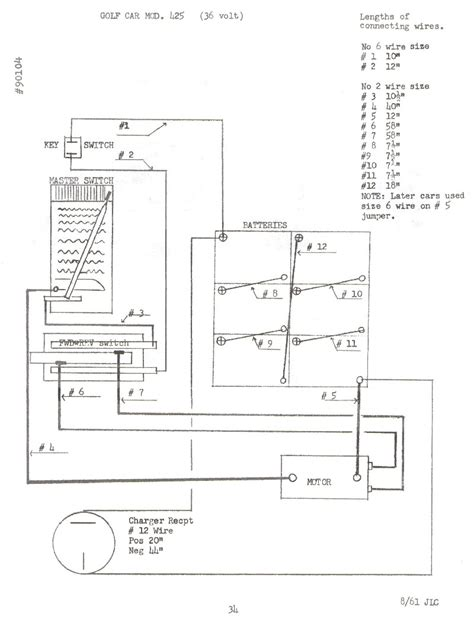 Wiring Diagram For 1996 Ezgo Golf Cart Battery by Diagram Ezgo Pds 36v Battery Wiring Diagram Version