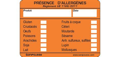les chambres froides étiquettes allergènes pour la restauration sanipousse