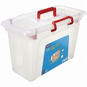 staples plastic file box with lid and handle clear 165 l With document box with lid