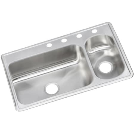 dayton kitchen sink elkay demr23322r4 4 faucet holes dayton 33 quot basin 3106