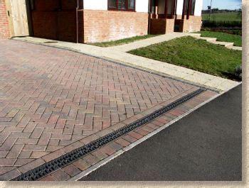 threshold channel stone driveway paver stones