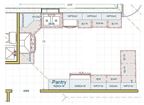 kitchen floor plan  island  helps  aging