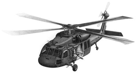 Blackhawk Helicopter Stock Illustration