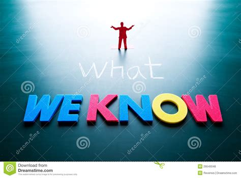 What We Know Concept Stock Photo. Image Of Chalkboard