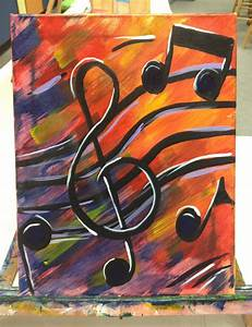 Music Notes Acrylic Painting Perfect Painting for Music
