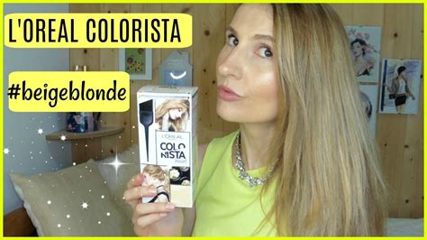 L'oreal Colorista Paint #beigeblonde Hair Color Review