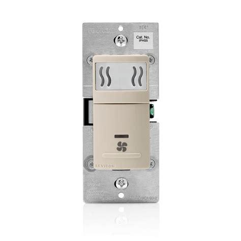 humidity sensor switch leviton 120 volt humidity sensor and fan light 1753