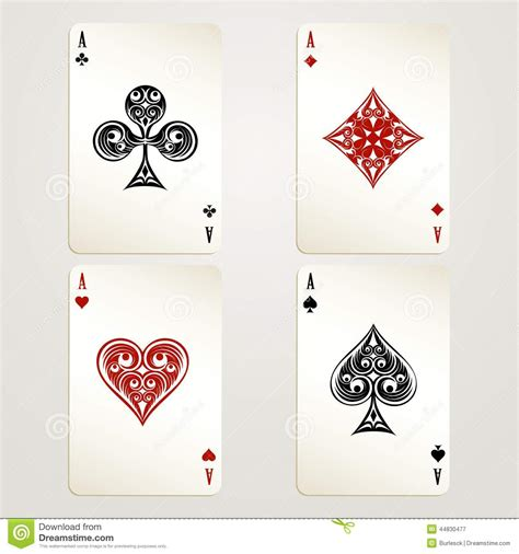 aces playing cards stock vector image