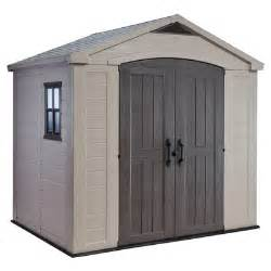 keter factor 8 ft w x 6 ft d resin storage shed