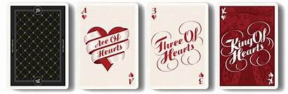 Cards Playing Typography Hearts Deck Type Boingboing