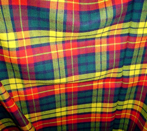 vintage buchanan modern tartan plaid wool gabardine fabric