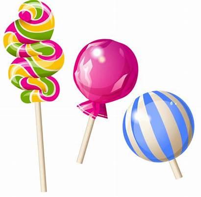 Candy Clipart Candyland Lollipops Transparent Lollies Hard