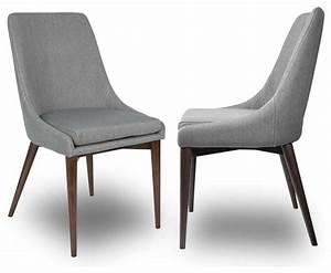 lot de 2 chaises tissu juju couleur gris moderne With salle À manger contemporaineavec chaise couleur pied bois