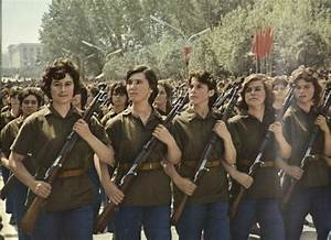 Eastern Bloc militaries — Female soldiers of the Albanian ...