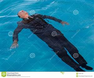 Senior Man Floating On Back In Water Stock Photo - Image ...