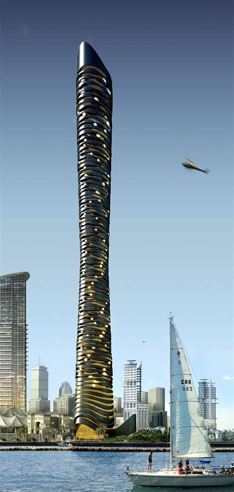 Dubaï étude Tower Flying Concept Doss Architect