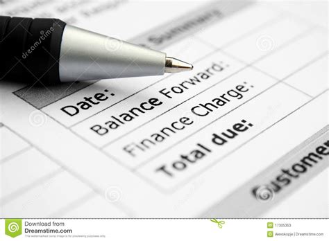 Account Balance Stock Image. Image Of Home, Credits, Cash