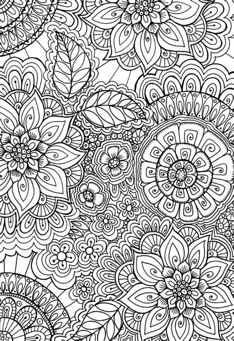 cindy wilde  patern colouring page doodle art