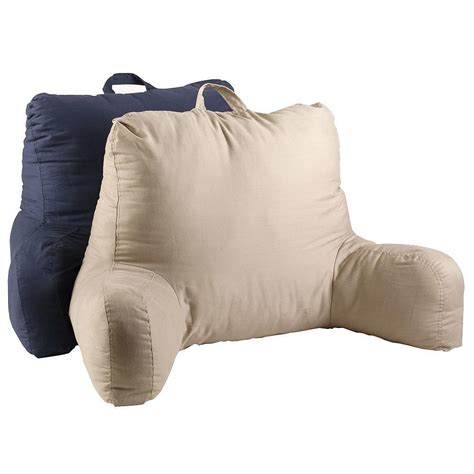 back pillow for bed twill bed rest navy pillow back support arm stable tv 4242