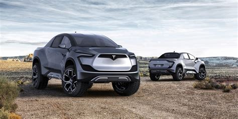 tesla pickup truck   armored personnel carrier