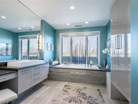 Modern Master Bathroom Colors by 27 Cool Blue Master Bathroom Designs And Ideas Pictures