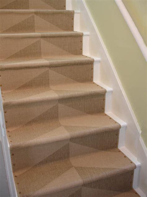 carpet on stairs loft cottage diy nailhead stair runner