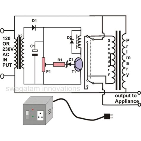 How Make Automatic Voltage Stabilizer Circuit