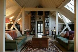 Medium Attic Living Room Design Some Design Possibilities For Your Loft