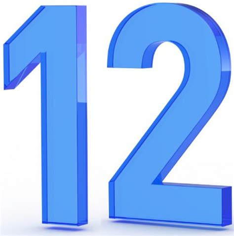 Number 12 Images Clipartsco